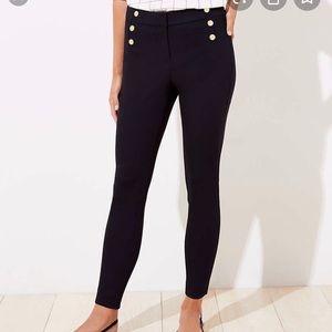 NWT. Black high waisted skinny sailor pants